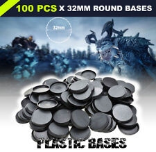 [100PCS - 32mm] Plastic Round Bases Wargame Model Bases For Warhammer Miniatures
