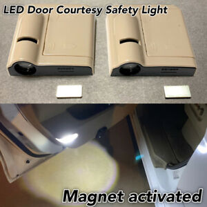 1 Pair Door Step Courtesy Welcome Laser Wireless Shadow LED Light B1 For Jaguar