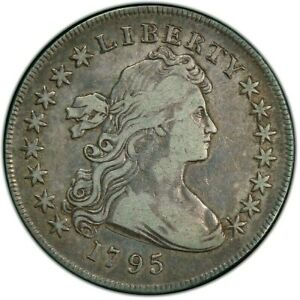 1795 Draped Bust Silver Dollar PCGS - VF 20 - Centered Bust, Small Eagle - RARE