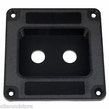 "NEW Recessed Dish Speaker Cabinet Jack Plate  Dual 1/4"" BLACK Orange Mesa Cab"