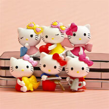 6pcs Hello Kitty Anime Figure Modeling Decoration Figurine Doll Gift Cake Topper