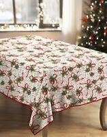 Christmas Holly Festive Xmas Tablecloth Napkins Dinner Set Christmas Party Linen