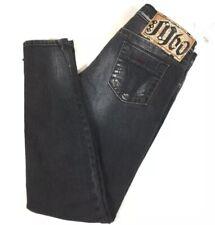 Miss Sixty NWT Black Skinny Ankle J Lot Jeans Size 27 Side Zip Distressed