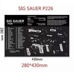 Gun Cleaning Mat Rubber Back High Quality - Sig Sauer P226 (Brand New)