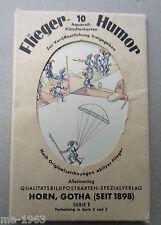original Postkarten   SERIE  um 1940 Flieger Humor mit Hülle