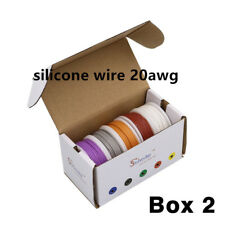 25m 18AWG Flexible Silicone Wire Cable 5 color box 2 package Electrical Wire