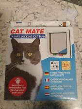 Cat Mate 4-Way Locking Cat Flap 7.625�W x 7.875�H New Sealed Never Used
