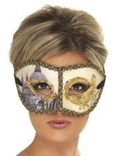 Venetian Colombina Venice Mask Burlesque Women's Fancy Dress Costume Accessory
