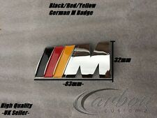 BMW M Sport 1 3 5 SERIE M TECH posteriore avvio tronco Badge Emblema Giallo/Rosso/Nero
