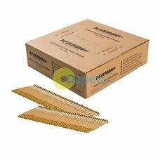 Galvanised Anneau Nails With 34° Clipped Head Yellow Passivated 2500Pk 2.9X50mm