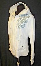 Triple Five Soul Ivory Sweater Hoodie Pink Tunic Jacket Long L-XL distressed hip