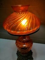 Vintage 1971 L & LWMC GWTW Gone W/ the Wind Red Tined Table Lamp (c21)