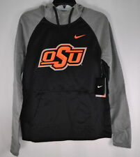 Nike Womens Oklahoma State, OSU, ThermaFit Sweatshirt, Black/Grey