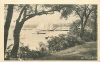 C-1905 Lake Calhoun Minnesota Sailboats Waterfront undivided postcard 8213