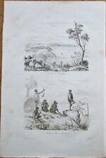 King George Sound, Western Australia 1830s Engraved Print- Indigenous/Aboriginal