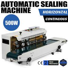 AUTOMATIC HORIZONTAL CONTINUOUS SEALER CONSTANT HEAT PLASTIC BAG SEALING MACHINE