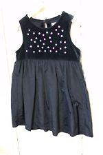 ESPRIT Mädchen Kleid Festlich Blau Samt Gr. 104 / 110 (Hg185)