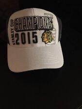 NHL Chicago Blackhawks Stanley Cup Champions Hat Cap Reebok Locker Room