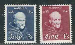 Ireland Stamps 163-64 SG 170-71 Fr Wadding MNH VF 1957 SCV $20.75