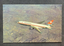 Swissair DC-10 postcard, issued by Swissair
