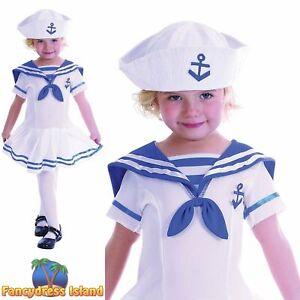 KIDS MILITARY MARINE SAILOR - Age 2-3 - girls toddler childs fancy dress costume