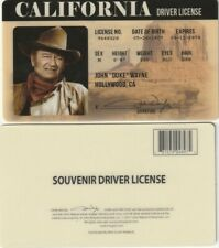 John Wayne THE DUKE fake ID card Drivers License True Grit Rio Brave Stage Coach