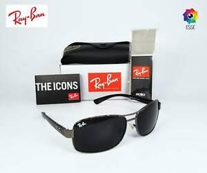 Brand New Authentic Ray-Ban RB3379 Gunmetal Frame/Dark Grey Lens 64mm Sunglasses