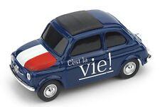 """1/43 FIAT 500 """"C'EST LA VIE"""" - """"VOILA'""""Brumm BR056"""