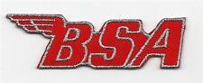 RED BSA Embroidered Classic Biker patch Goldstar Lightning Trails  C15 B40 A10