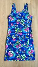 Primark Ladies Dress 10 Jersey Summer Casual Day Sun Flamingos Holiday Bodycon