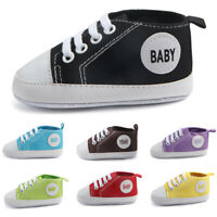 Newborn Infant Toddler Sneakers Baby Boys Girls Soft Sole Crib Shoes SALE