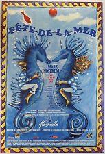 Hippocampe  AFFICHE 1993 FÊTE DE LA MER à Marseille /18PB