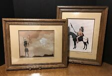"2 MARGUERITE FIELDS FRAMED PRINTS ~ ""HERITAGE"" & ""VISION QUEST"""