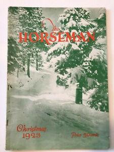 HORSEMAN MAGAZINE CHRISTMAS 1923 -- HARNESS RACING -- FAIRS AND EXPOSITIONS