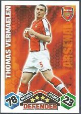 TOPPS MATCH ATTAX 2009-10-ARSENAL & BELGIUM-THOMAS VERMAELEN