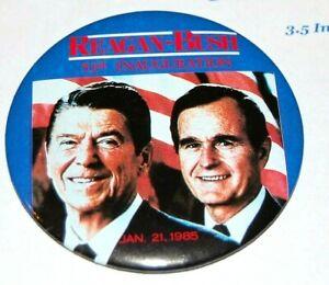 1985 RONALD REAGAN INAUGURATION campaign pin pinback button political president