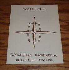 1966 Lincoln Continental Convertible Top Repair & Adjustment Manual 66