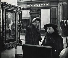 1955 Vintage 11x14 HUMOR Old Lady NUDE PAINTING Paris Photo Art ROBERT DOISNEAU