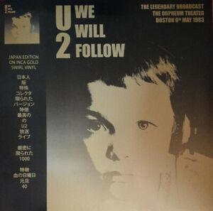 U2 - We Will Follow - The Legendary Broadcast Live - Gold Vinyl LP *NEW*