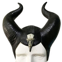 Maleficent: Mistress of Evil Witch Black Horn Hat Fancy Dress Halloween Cosplay