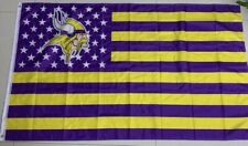 Minnesota Vikings 3x5 Ft American Flag Football New In Packaging