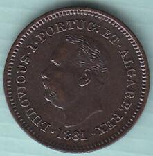 Portugueza Ludovicus Oitavo de Tanga 1881 copper coin