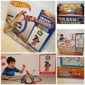 Hot Wheels Track Builder Starter Kit w. Car Play Set NEW Sealed Ages 6-12 Gift