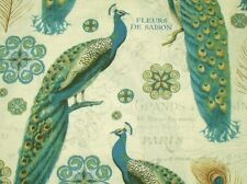 CLEARANCE! Majestic Beauties A/O Peacocks by Daphne B for Wilmington Prints BTY