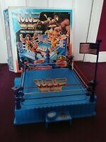 WWF Official Wrestling Ring Hasbro Titan Sports Vintage 1989 With Box Retro