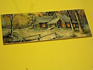Vintage Old Country Cottage Wood Puzzle 4 By 8 Inches 85 Pieces