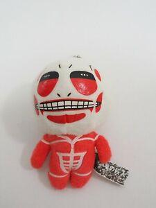 "Attack on Titan Keychain Mascot Plush 4"" Stuffed Toy Doll Japan"