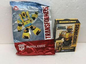 """☀️NEW Wendys """"BUMBLEBEE TRANSFORMERS"""" Toy with 20 bandages 2019 ☀️"""