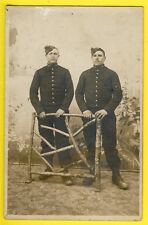 cpa carte Photo de 1909 MILITAIRES SOLDATS du 148e Régiment DENIMAL à QUIÉVY