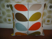 Homemade  cushion cover using orla kiely fabric in MULTI